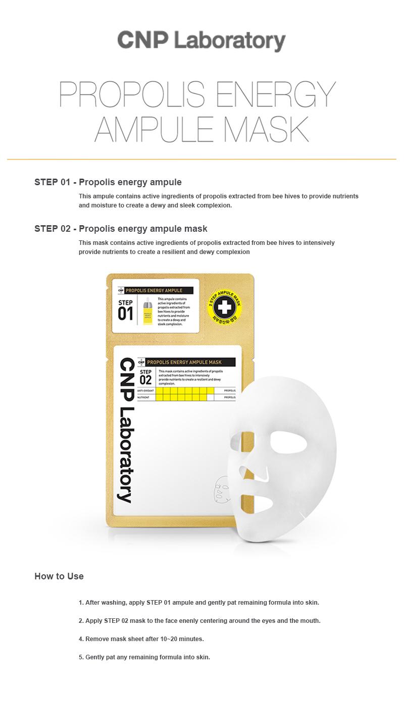 Cnp Laboratory Propolis Energy Amoule Mask Pack 5pcs